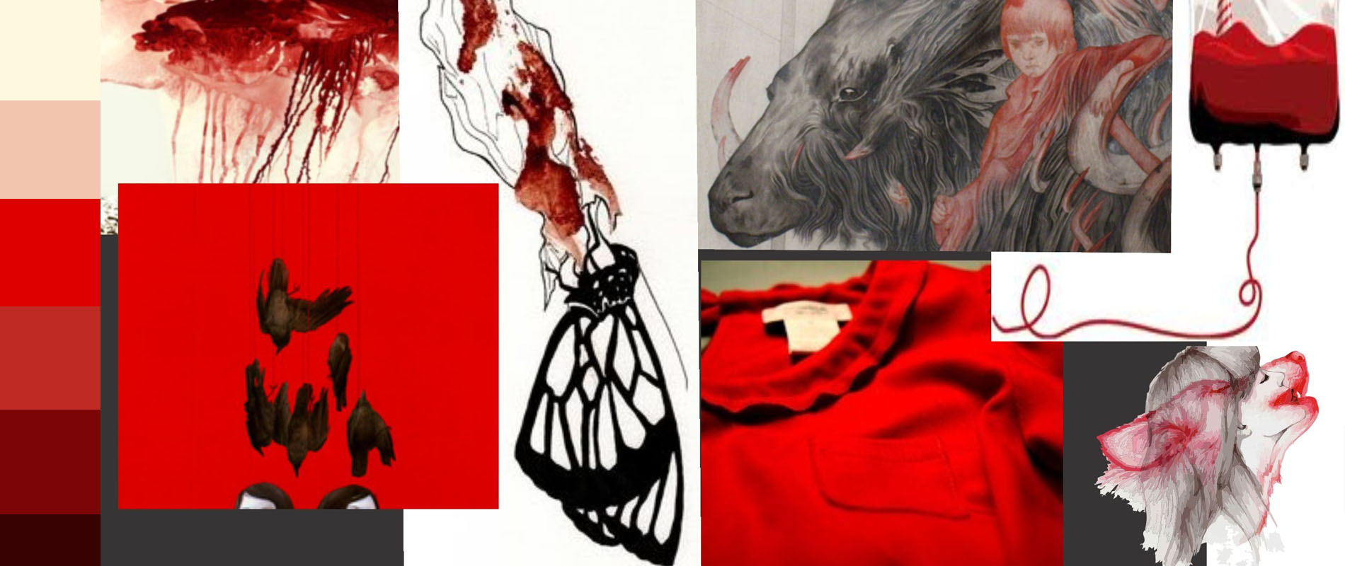 Bloody Red Moodboard